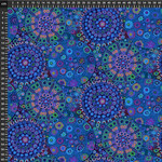 FreeSpirit Fabrics Millefiore - Blauw
