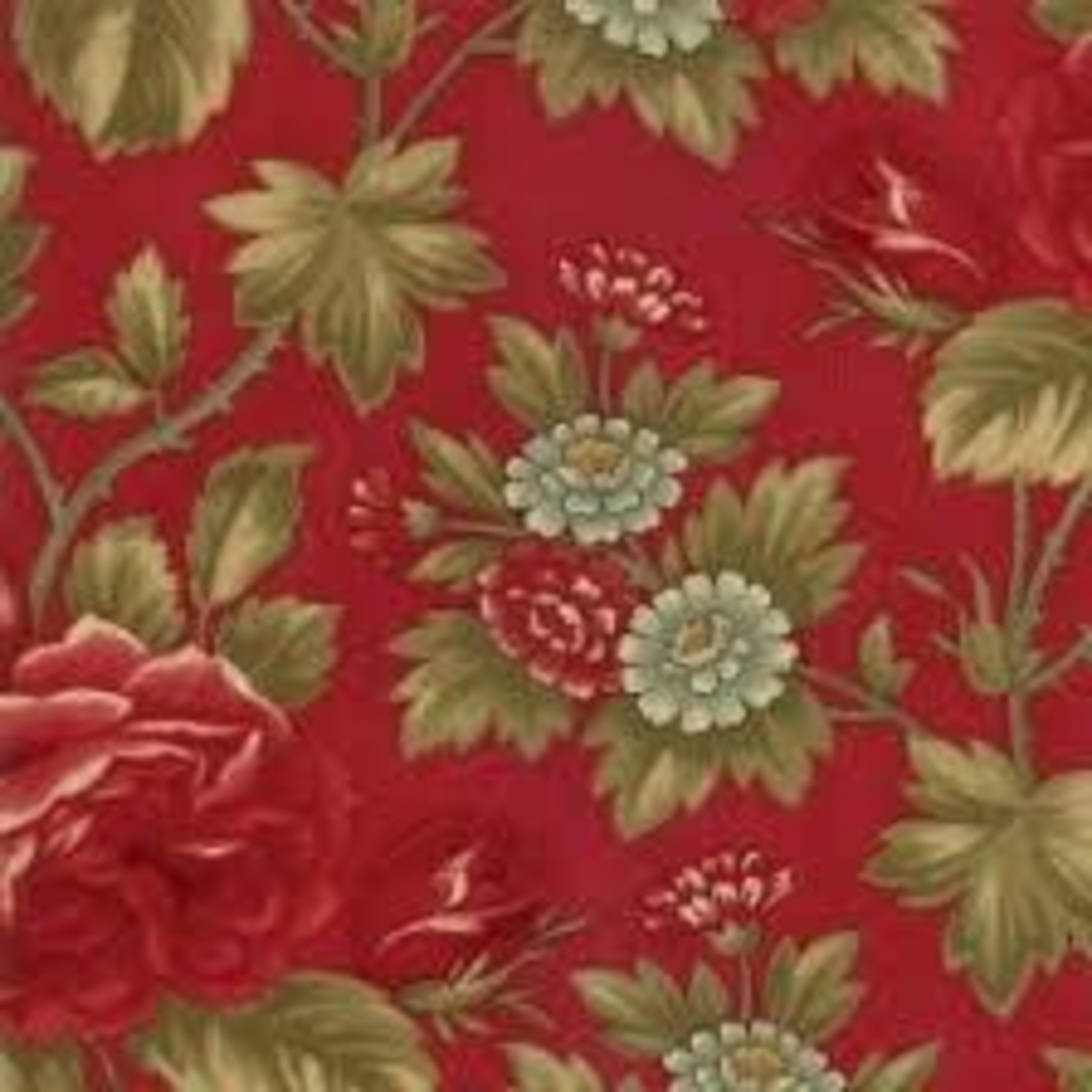 Moda 3 Sisters - Rosewood - Floral Roses - Cherry