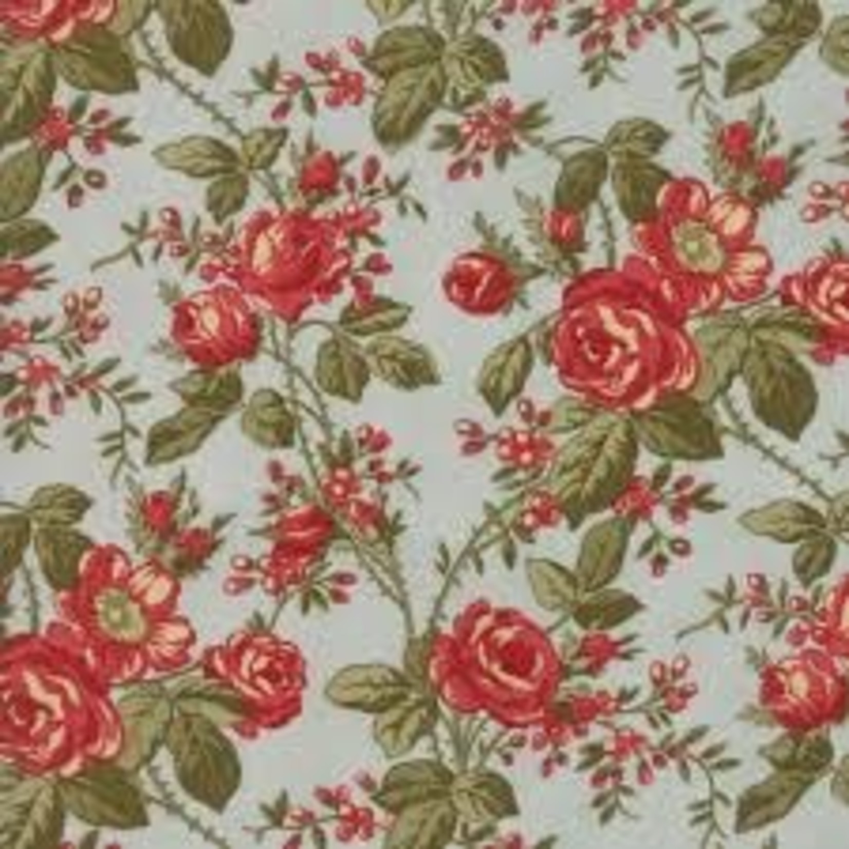 Moda 3 Sisters - Rosewood - Floral Roses - Frost