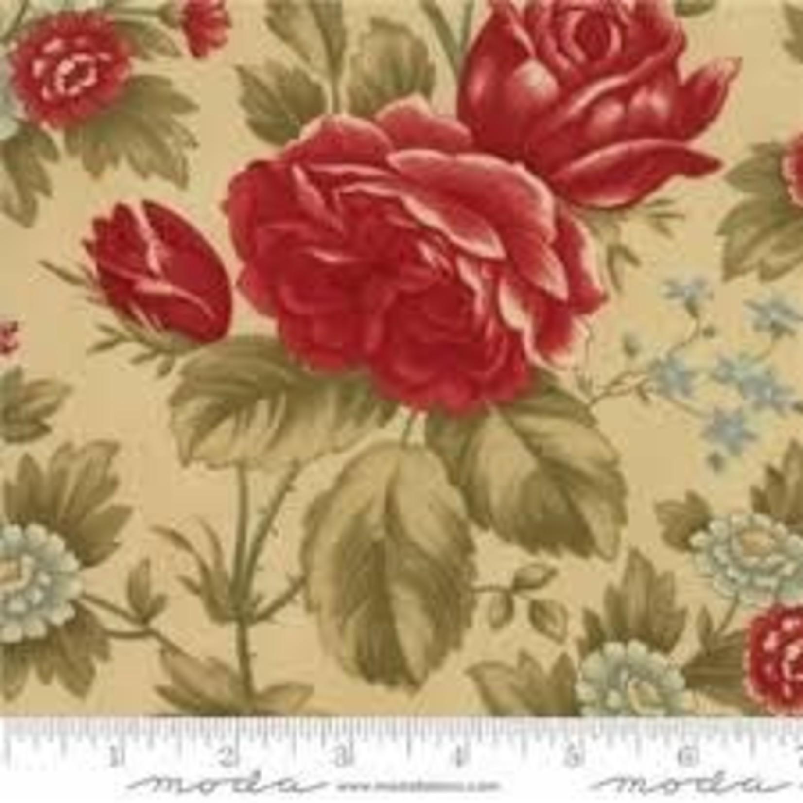 Moda Fabrics 3 Sisters - Rosewood - Floral Roses - Vanilla