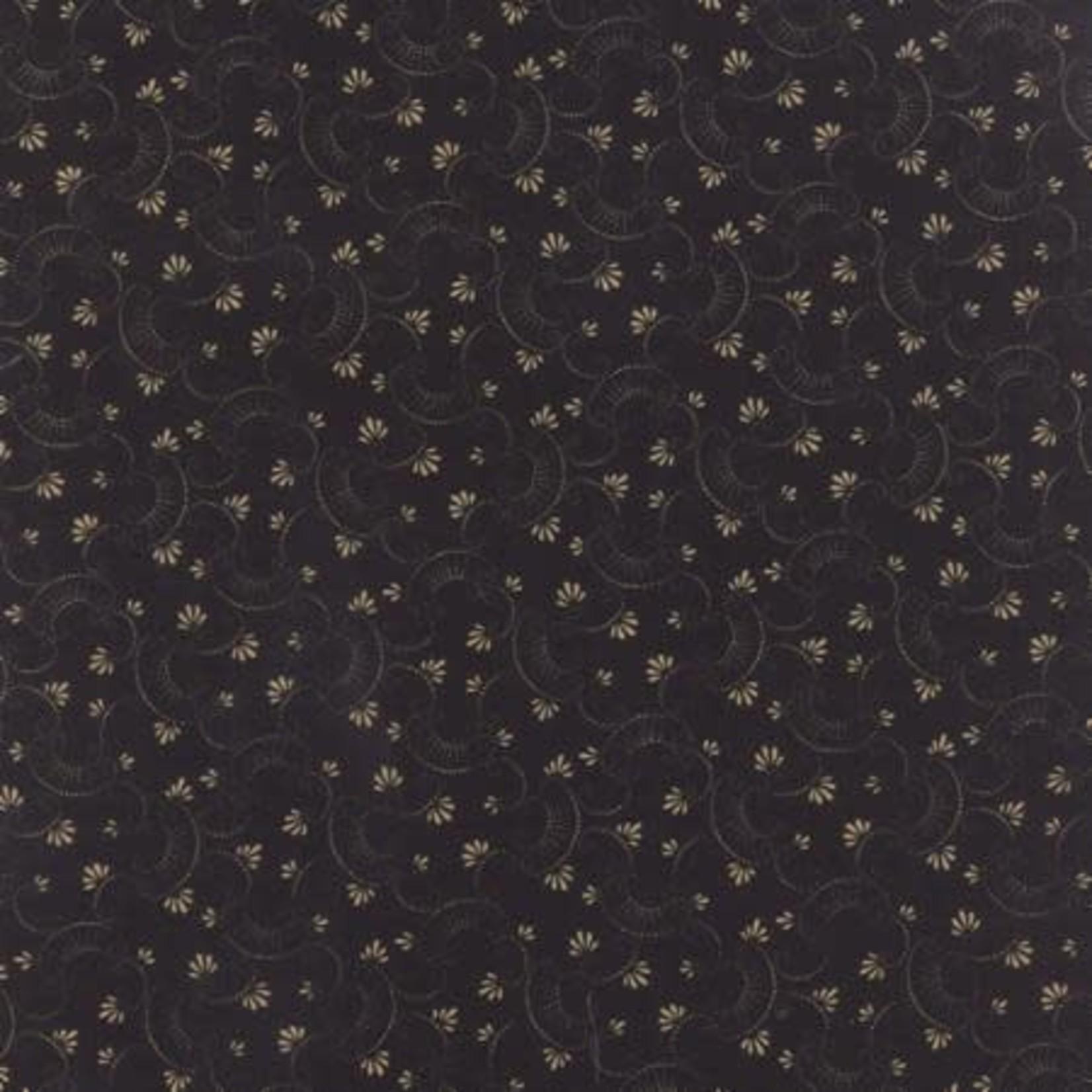 Moda Fabrics Kansas Troubles - Clara's Garden - Black