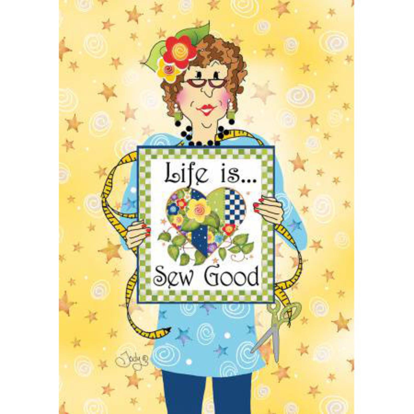 The Sisterhood of Quilters Kaart met Envelop - Life Is Sew Good