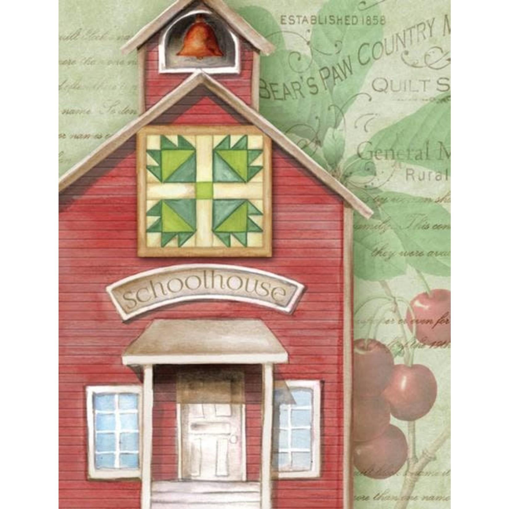 Kaart met Envelop - Schoolhouse