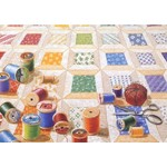 Barker Quiltscapes Kaart met Envelop - Spool Quilt