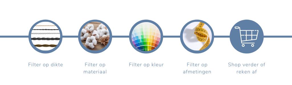 Filter uitleg garens