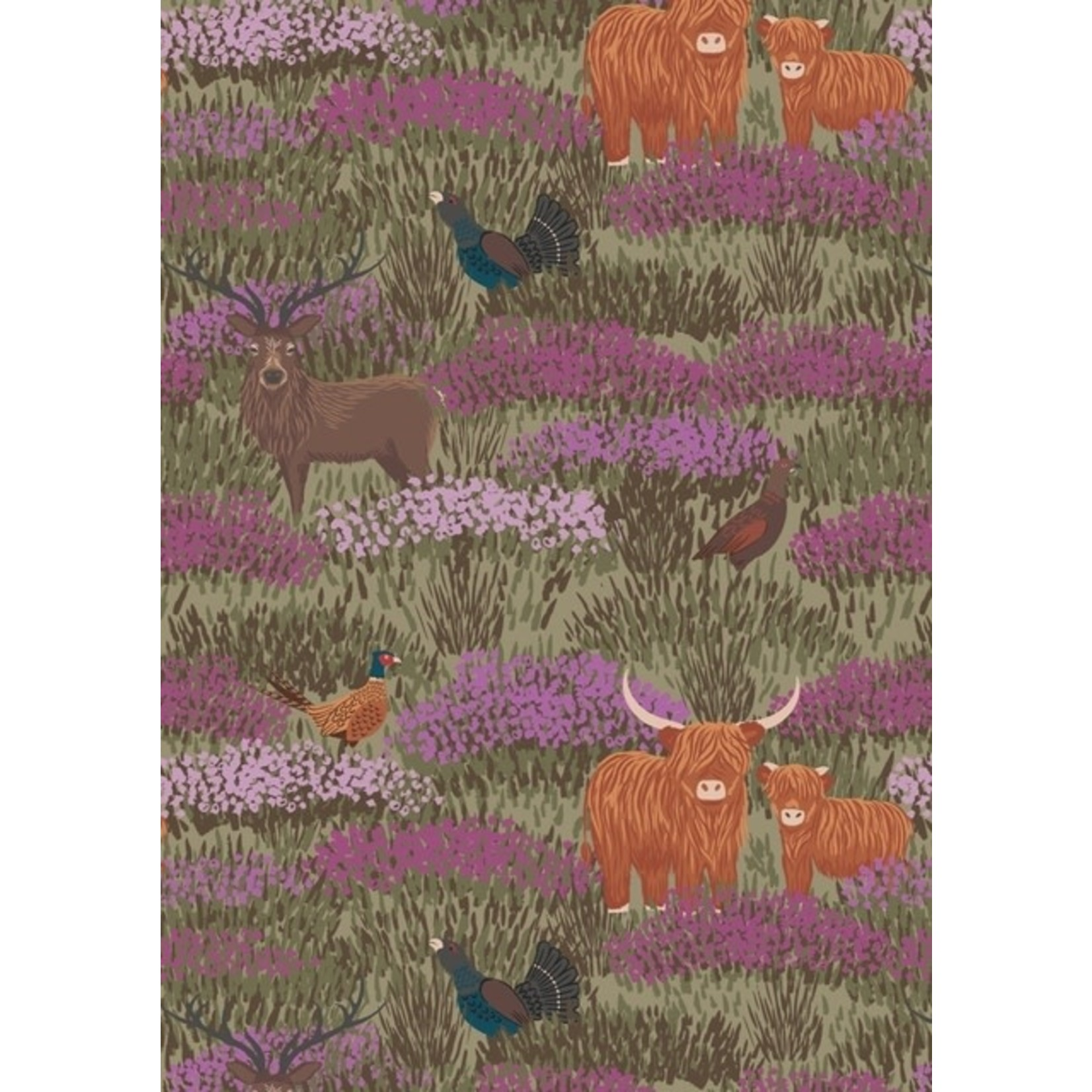 Lewis & Irene Celtic Coorie - In The Heather - Olive Green