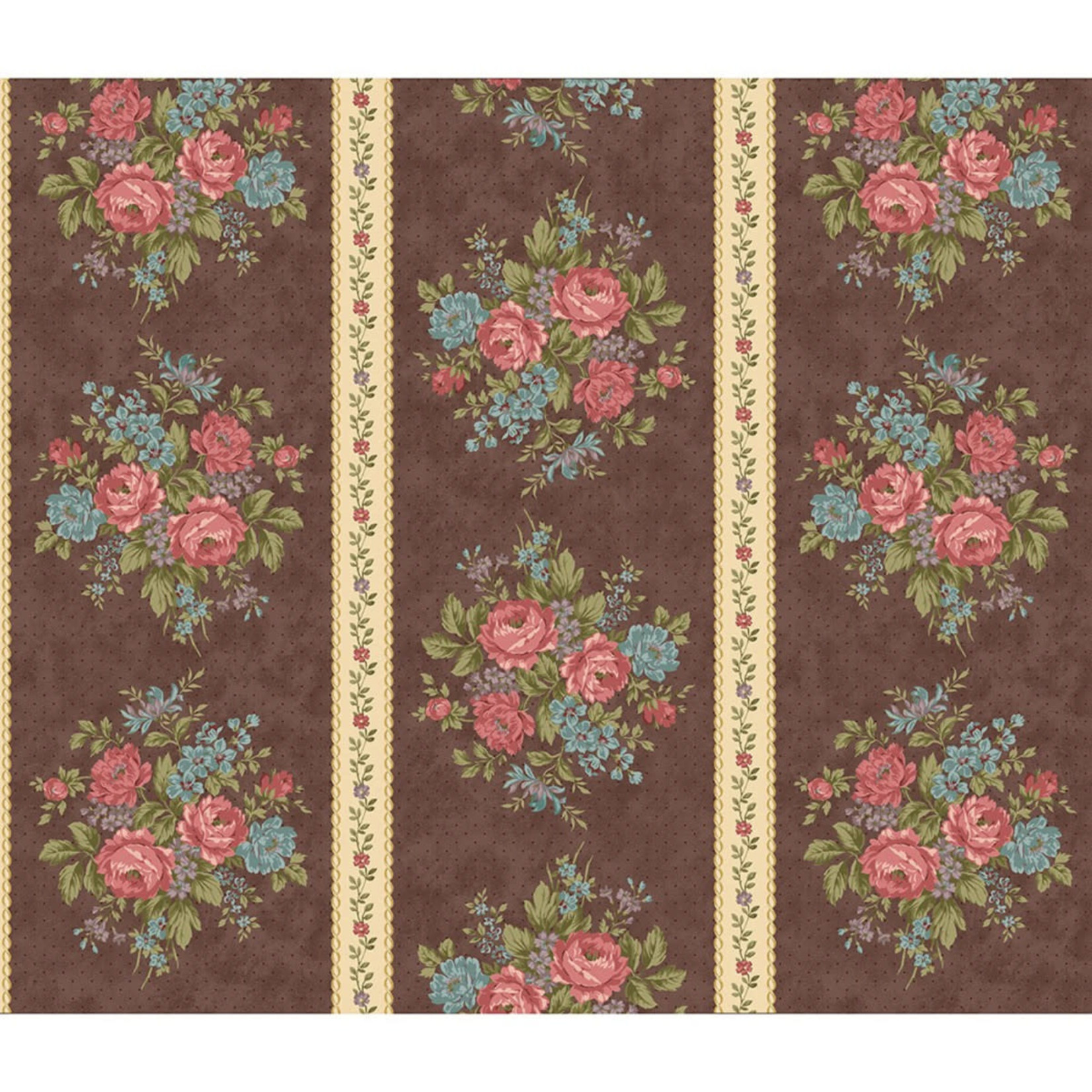 Marcus Fabrics Country Clare - Border - Brown