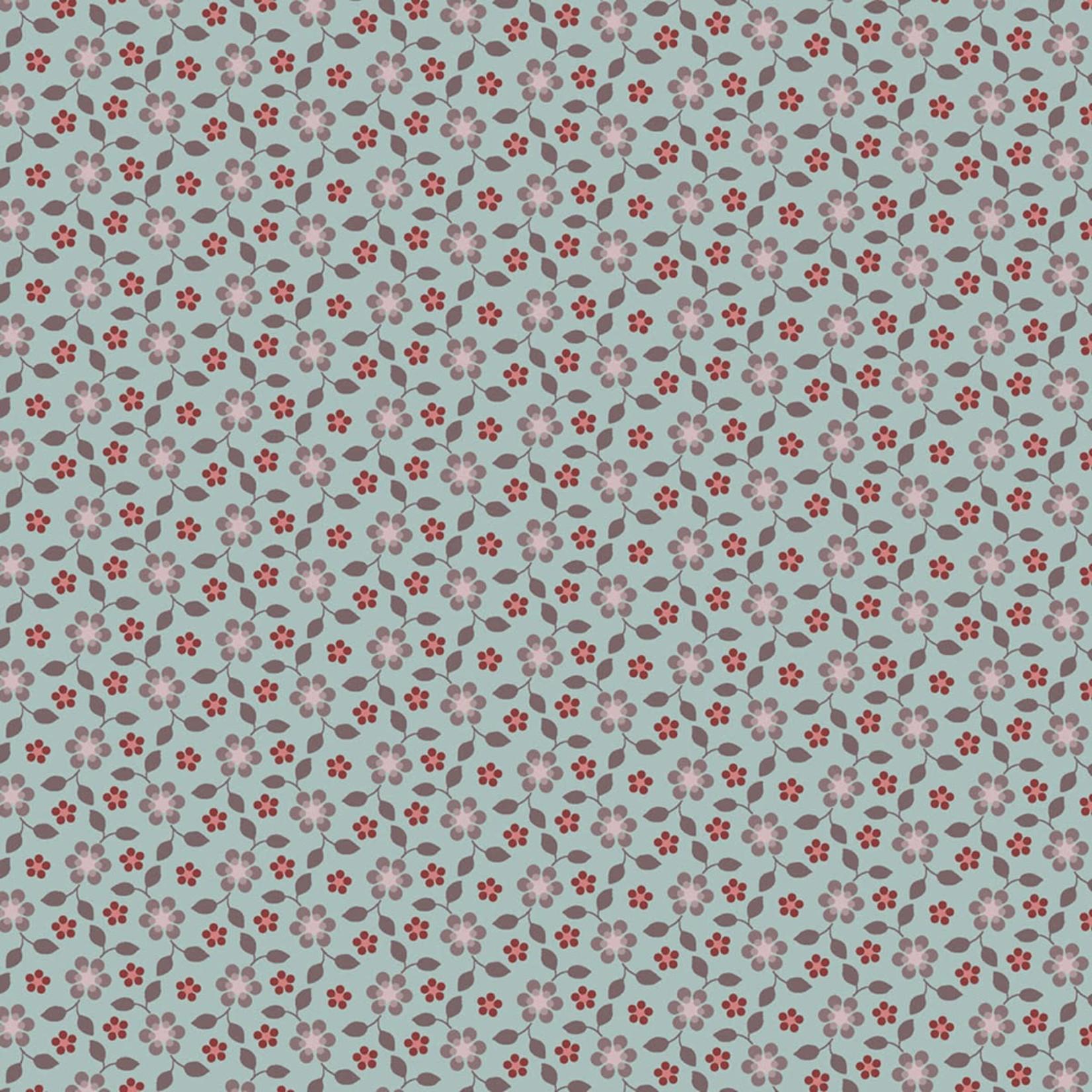 Marcus Fabrics Country Clare - Turquoise Tulla
