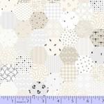 Marcus Fabrics Fade In - Cream Hexagon