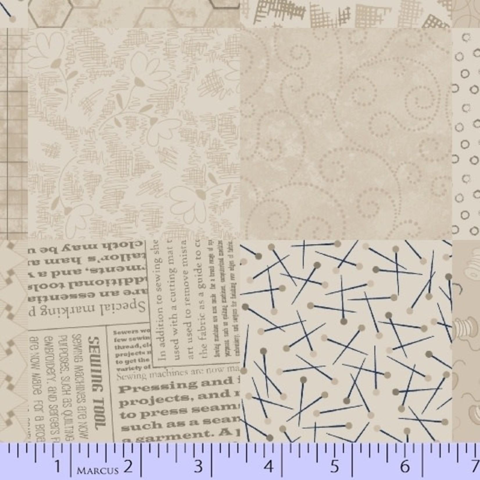Marcus Fabrics Fade In - Cream Square