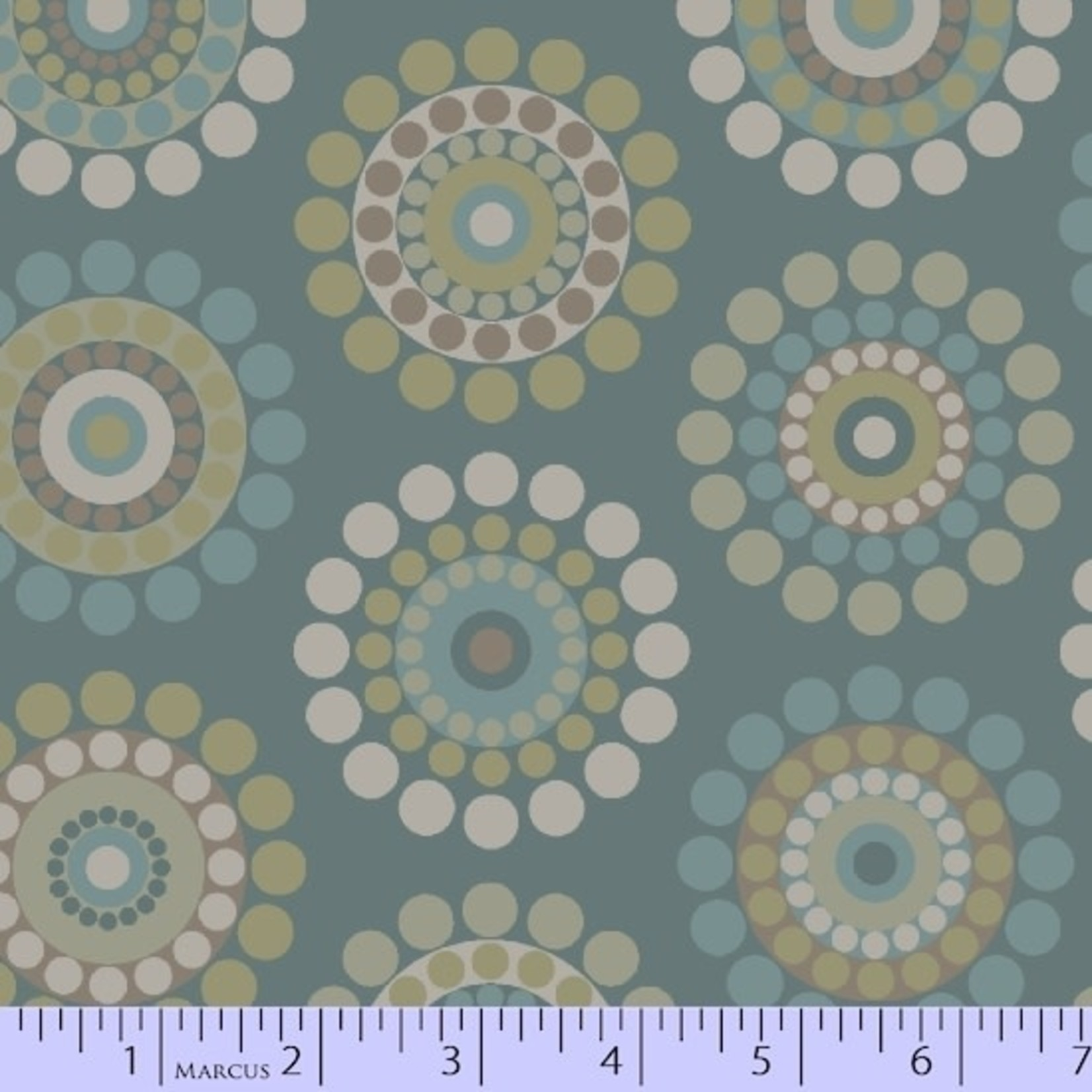 Marcus Fabrics In The Round - Dotted Rings - Blue