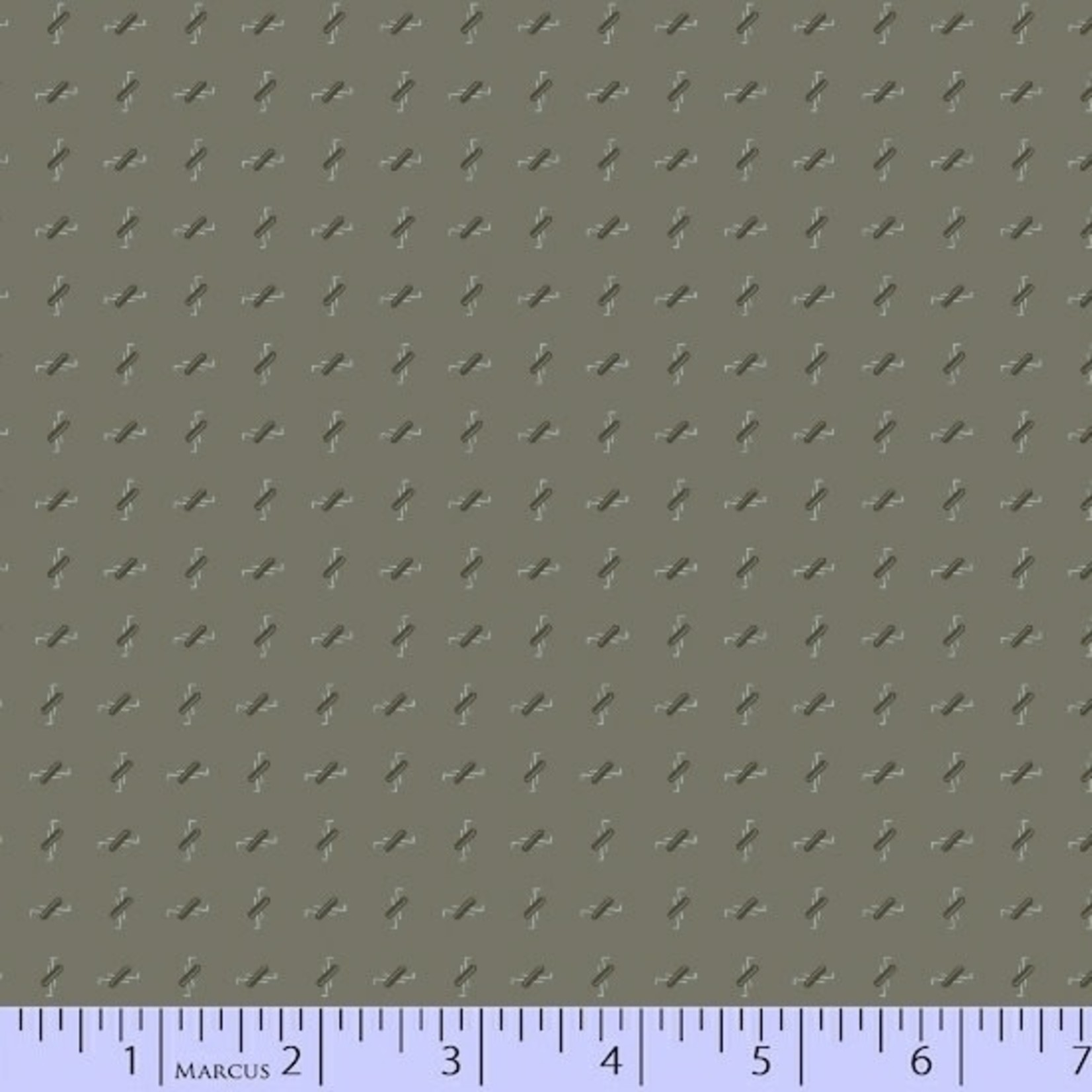 Marcus Fabrics Concrete - Ditsy Ovals – Gray