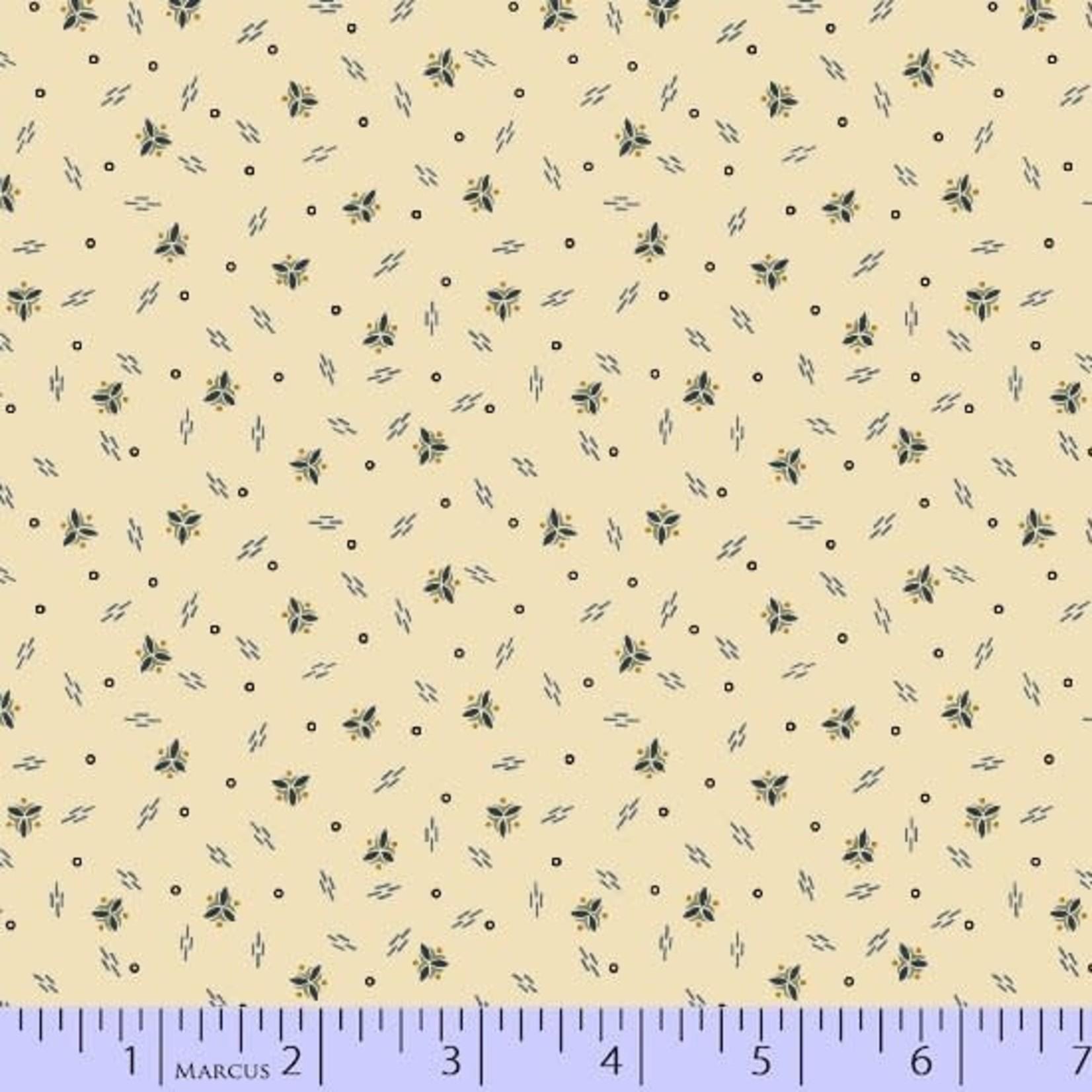Marcus Fabrics Mrs.Miller's Aprentice - Falling Spirals - Cream