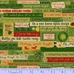 Marcus Fabrics Songbook Jingles - Green