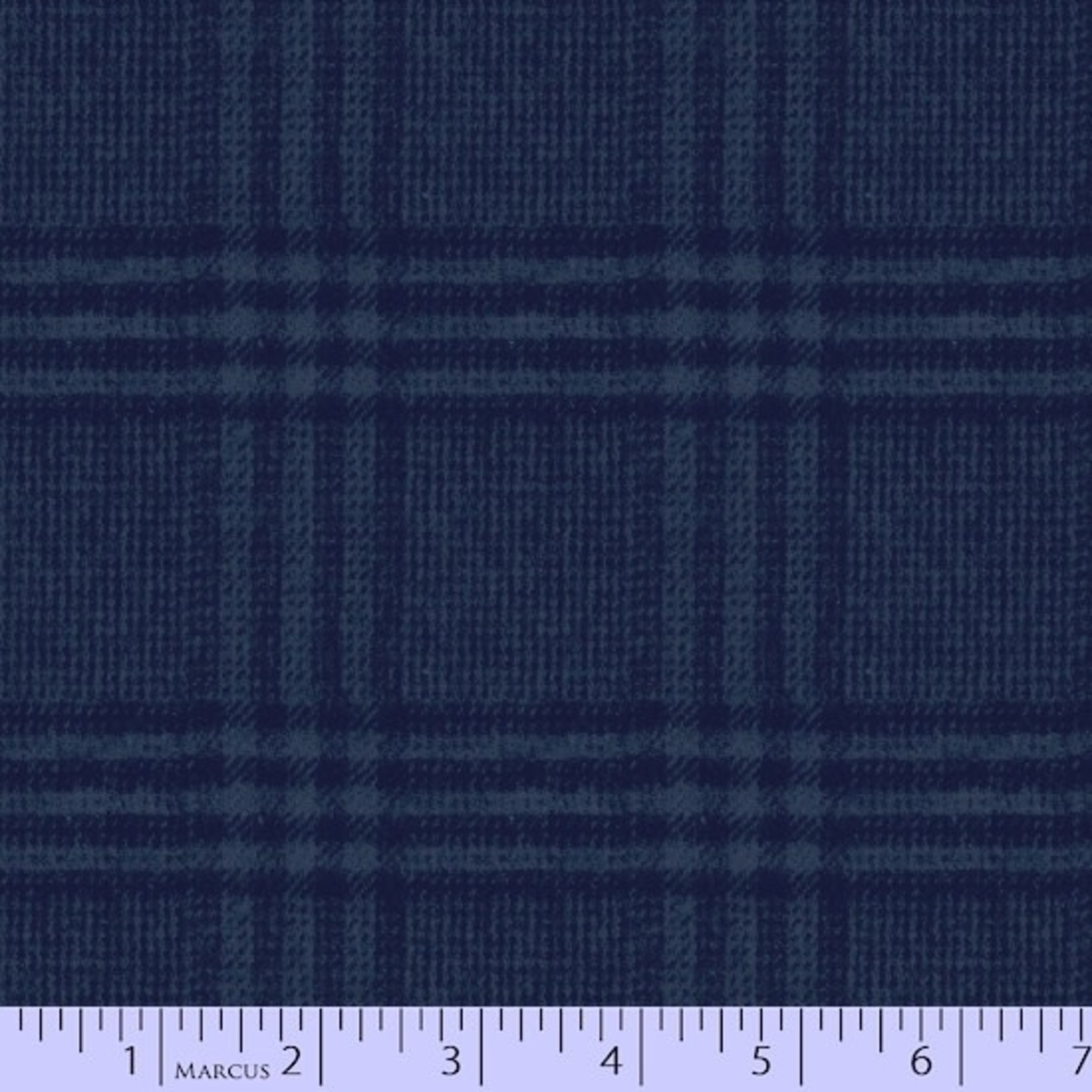 Marcus Fabrics Flannel Blues - Dark Blue