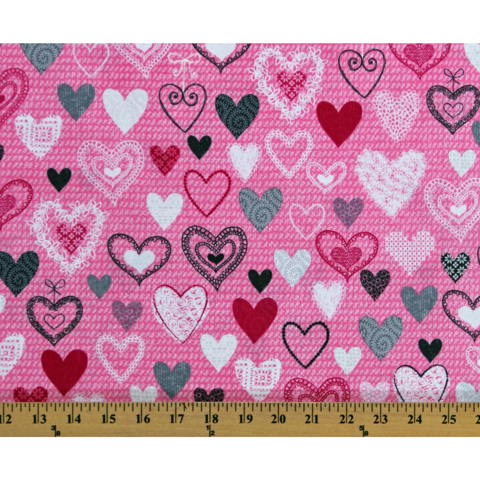 Kanvas Studio Knit Together - Hearts - Pink