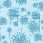 Kanvas Studio Pearl Reflections - Dandelion Shadow- Aqua Teal