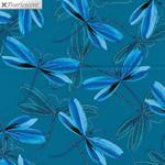 Kanvas Studio Pearl Reflections - Dragonfly Dream - Dark Teal