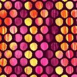 Kanvas Studio Sunburst - Fuzzy Dot - Wine