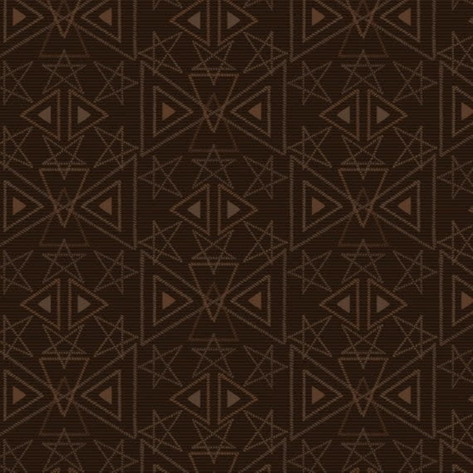 Henry Glass Fabrics Best Of Days - Star Geo - Brown