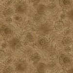 Henry Glass Fabrics Best Of Days - Wall Flower - Cacao