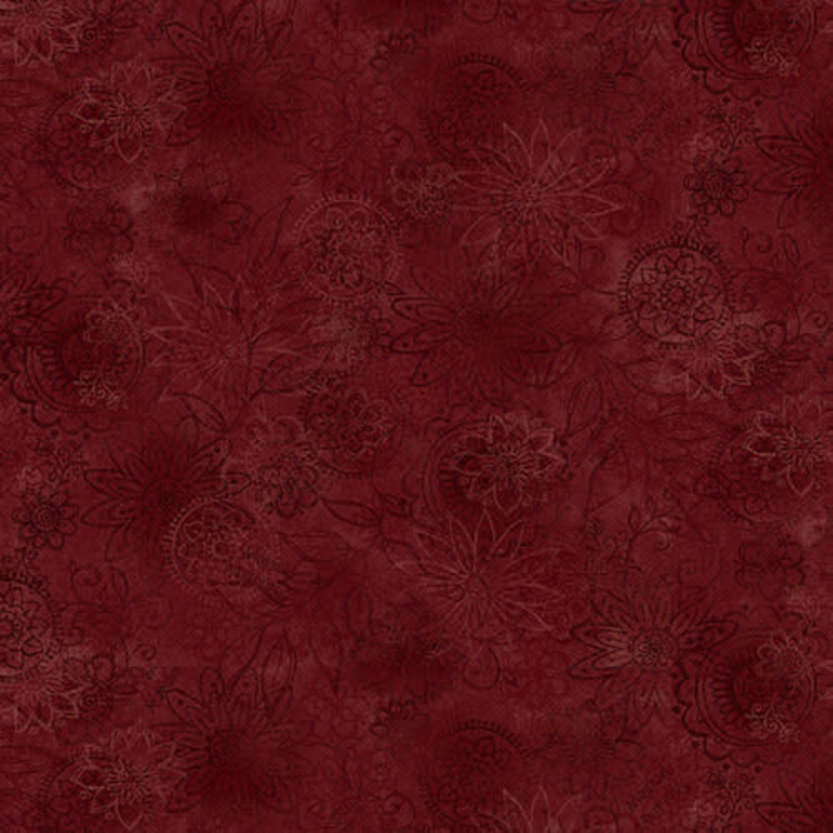 Henry Glass Fabrics Best Of Days - Wall Flower - Red