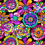Blank Quilting Aziza - Stained Glass - Floral
