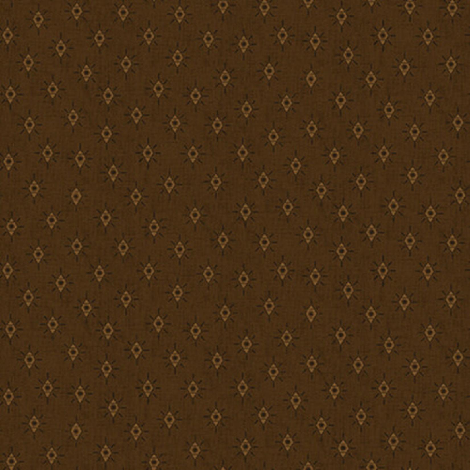 Blank Quilting Barn Dance - Diamonds - Brown