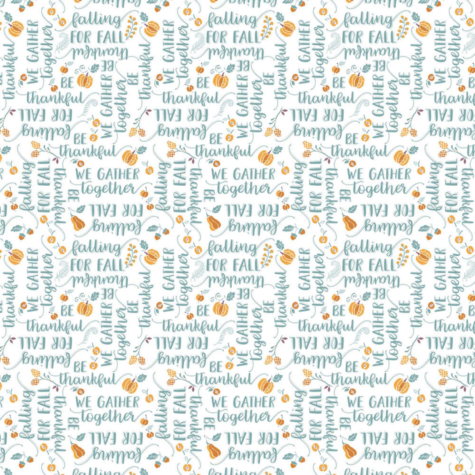 Camelot Fabrics Autumn Impressions - Ode Aan De Herfst - Wit