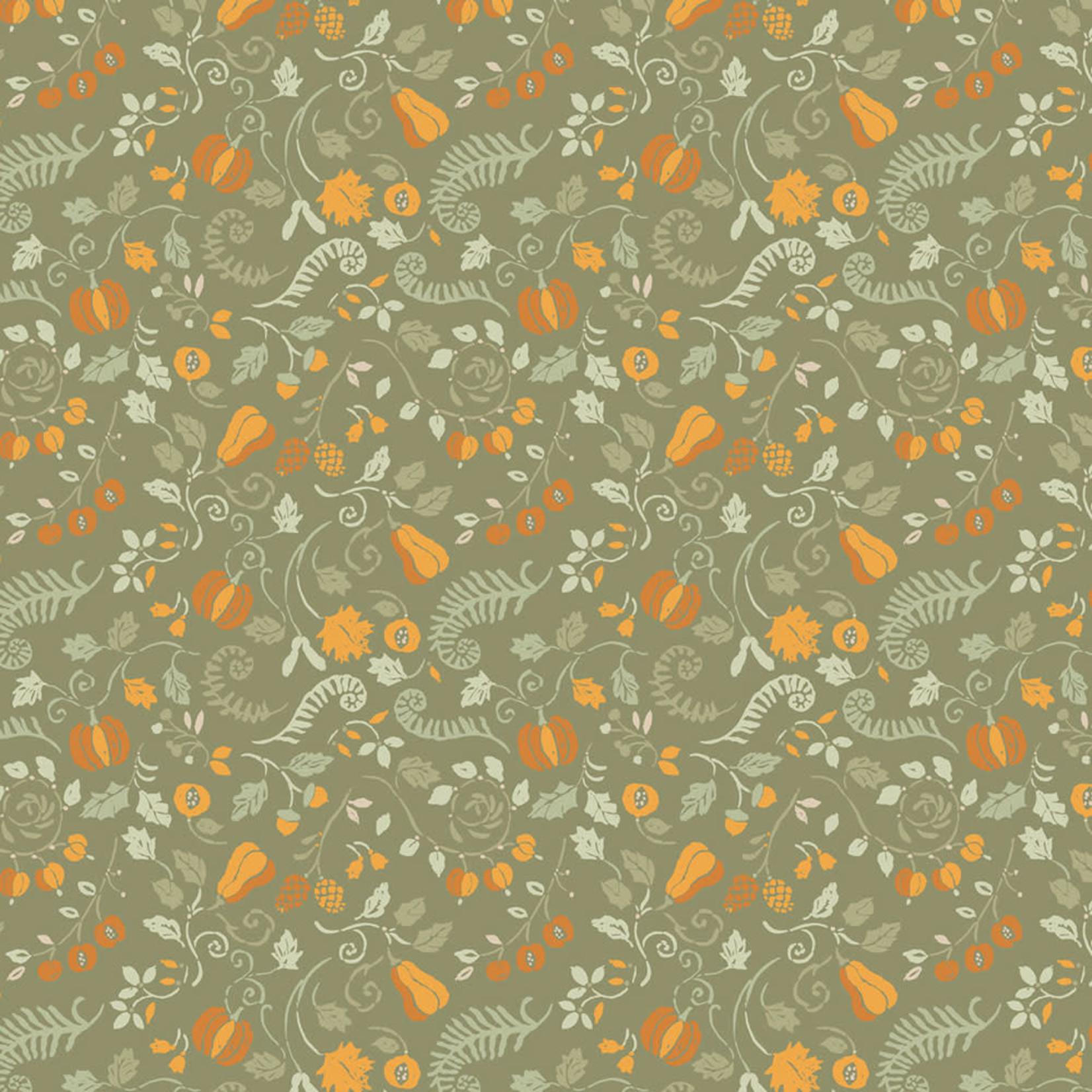 Camelot Fabrics Autumn Impressions - Oogst - Groen