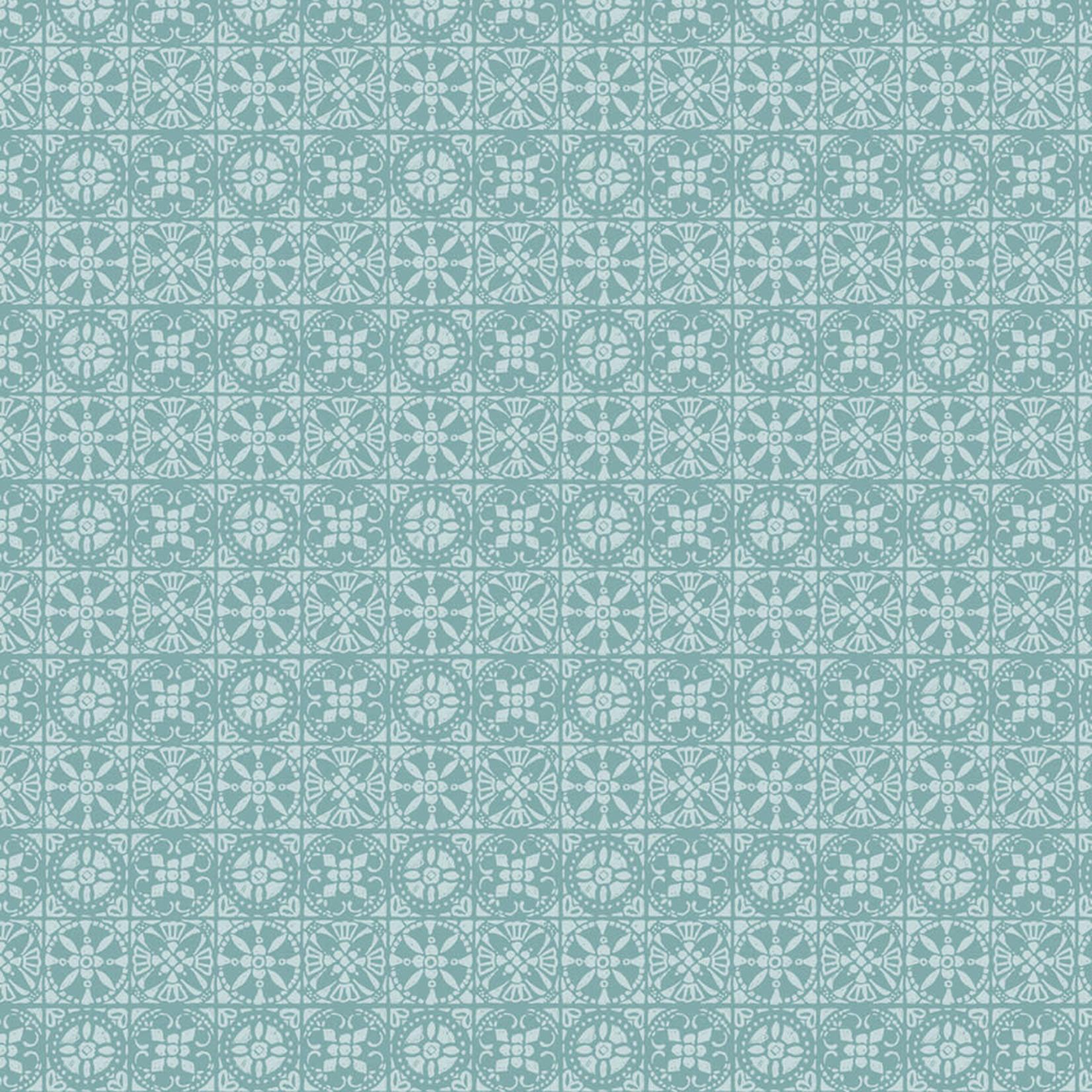 Camelot Fabrics Autumn Impressions - Tegels - Blauw/Groen