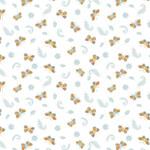 Camelot Fabrics Autumn Impressions - Vlinders - Wit