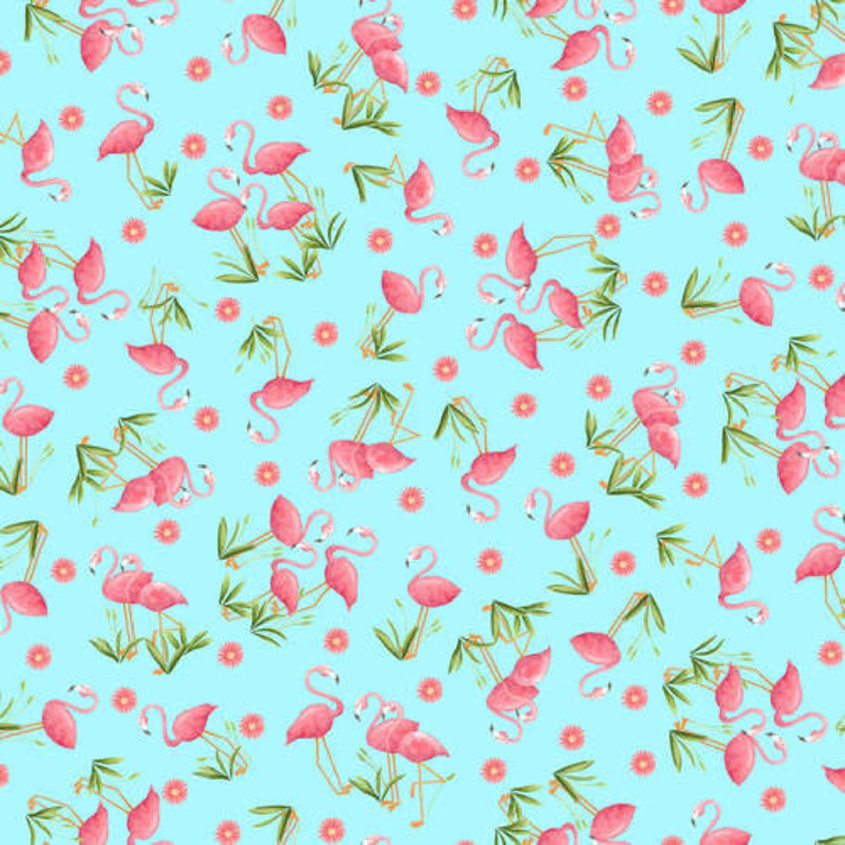 Blank Quilting Let's Flamingle - Aqua