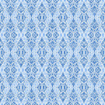 Blank Quilting Once in A Blue Mood - Butterfly Scroll - Medium Blue