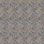 Blank Quilting Tessellations Twice - Dots in Circles - Gray