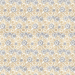 Blank Quilting Tessellations Twice - Dots in Circles - Ivory