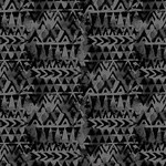 Blank Quilting Tessellations Twice - Triangle Geo - Black