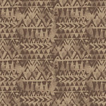 Blank Quilting Tessellations Twice - Triangle Geo - Brown