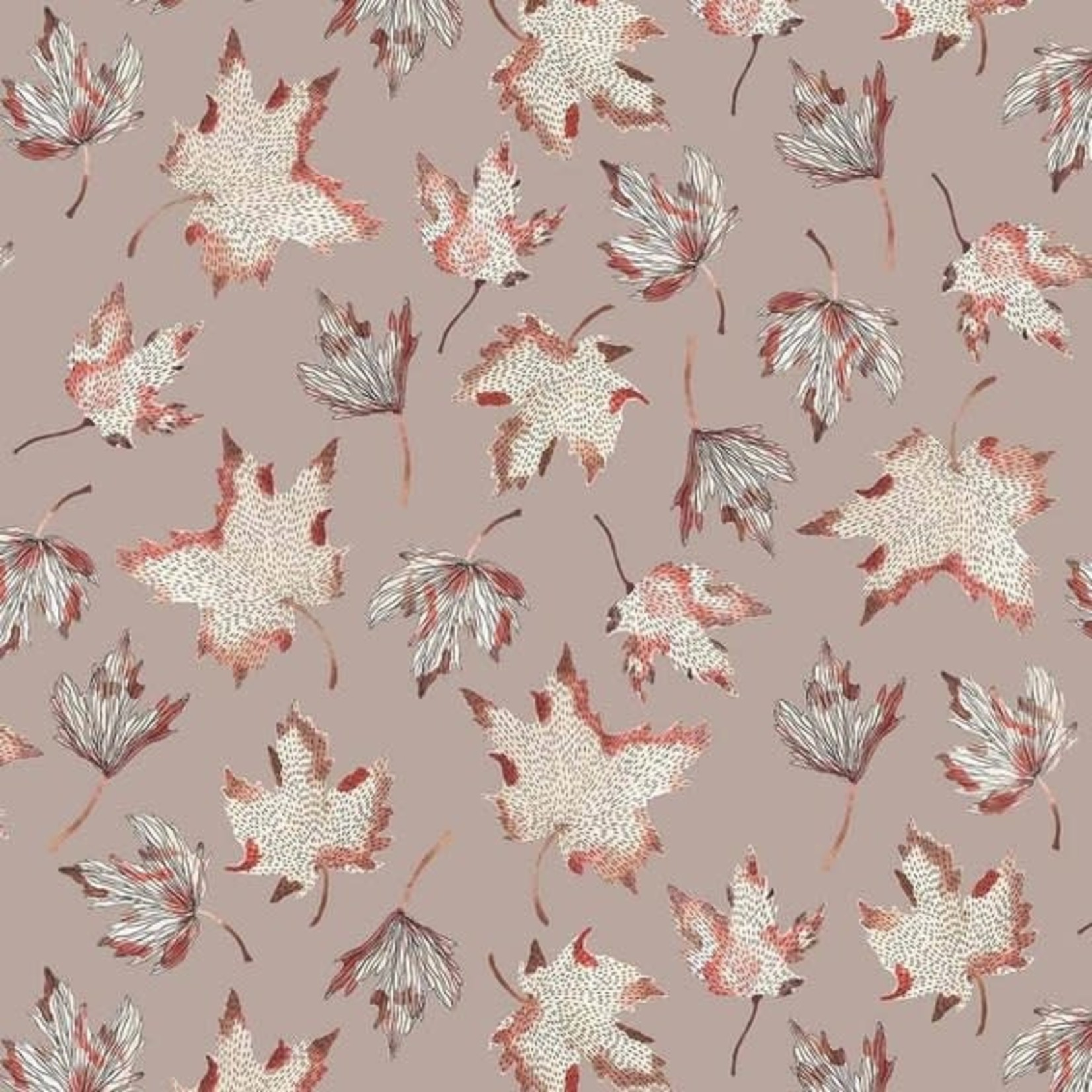 Figo Fabrics After The Rain - Leaves In Taupe