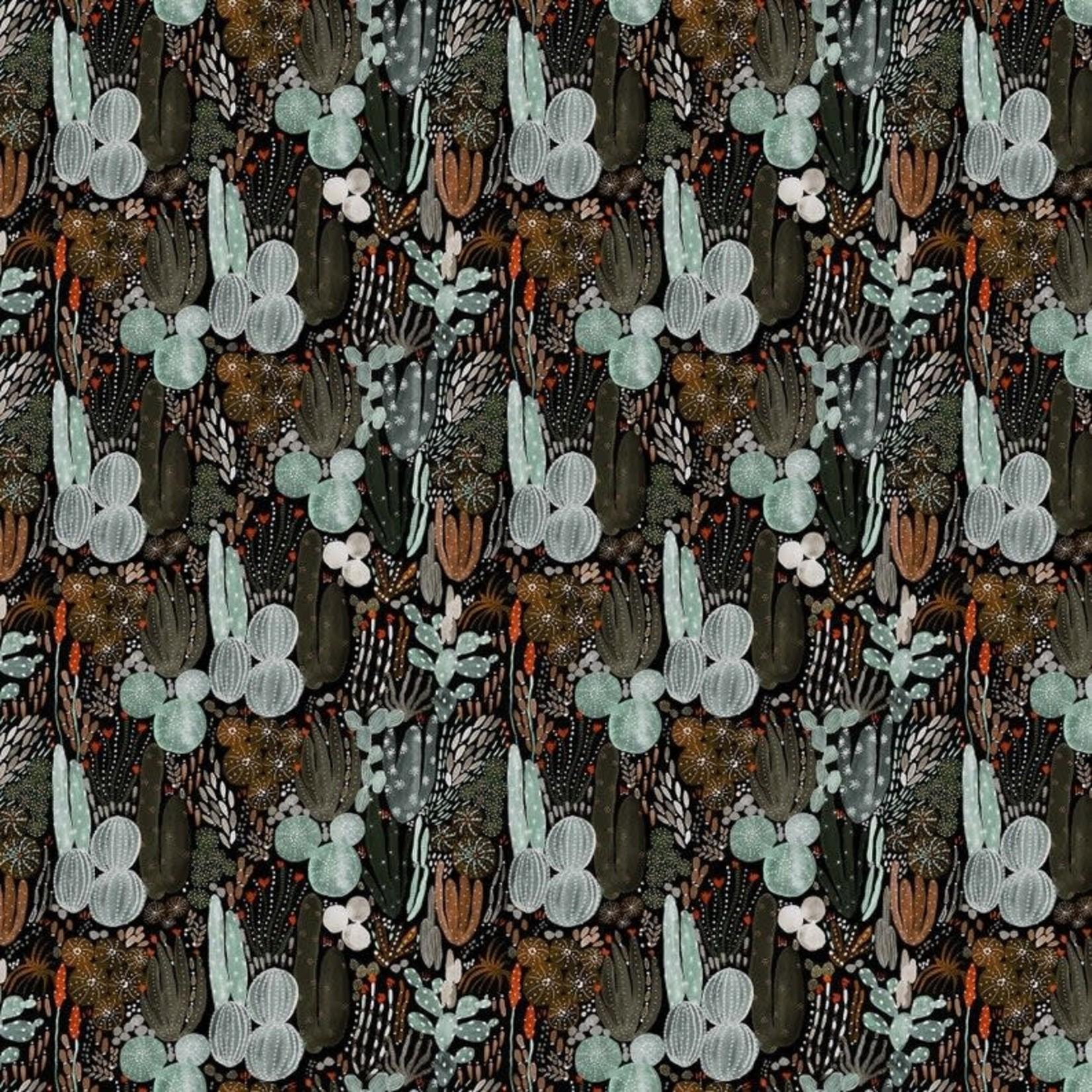 Figo Fabrics Desert Wilderness - Black
