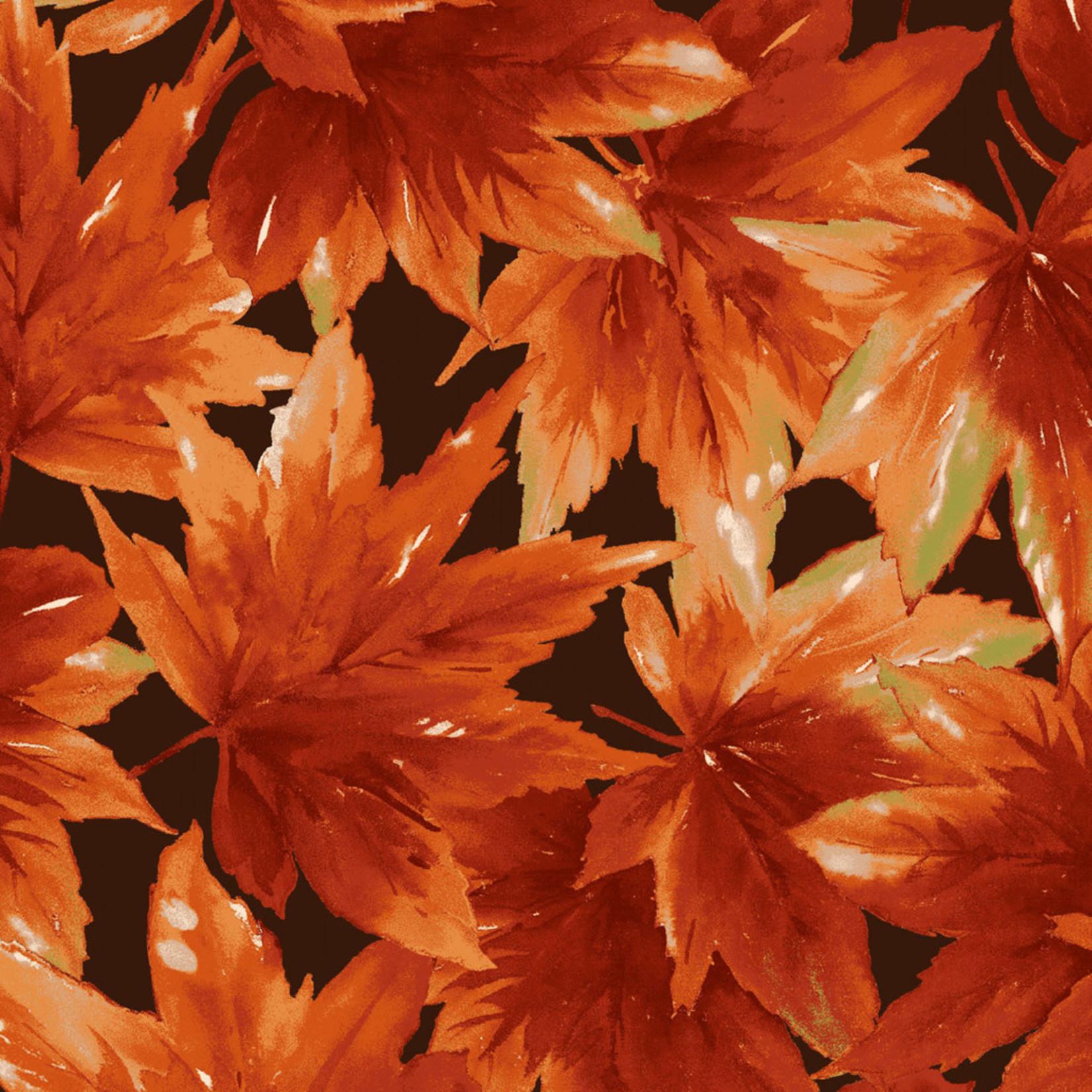 Maywood Studio Bountiful - Leaves - Brown