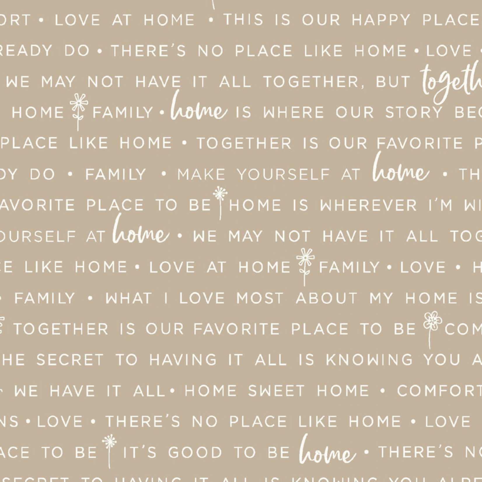 Maywood Studio Make Yourself at Home - Phrases - Taupe