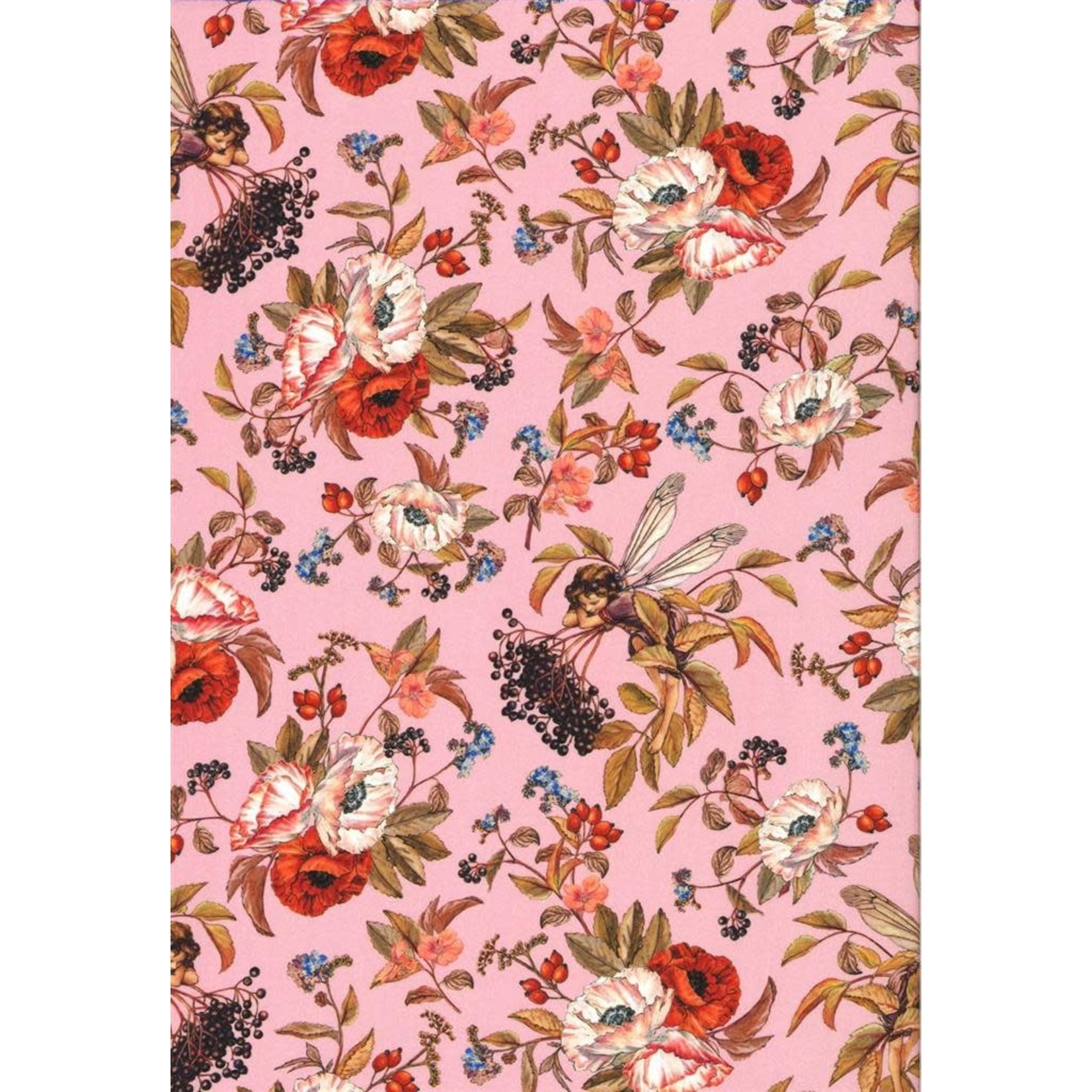 Michael Miller Elderberry Flower Fairies - Pink