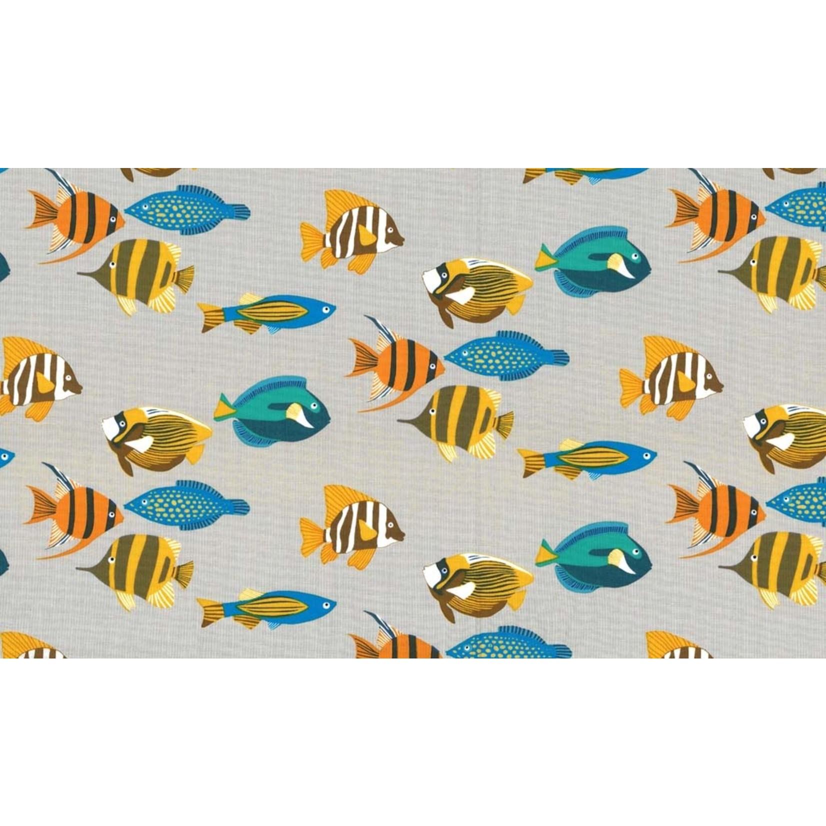 Michael Miller Fishtopia - Fish - Grey