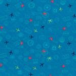 Michael Miller Travel Daze - Mapped Out - Teal