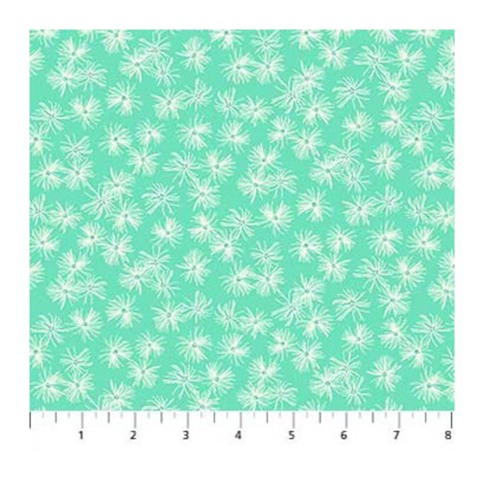 Figo Fabrics Mountain Meadow - Dandelions - Mint