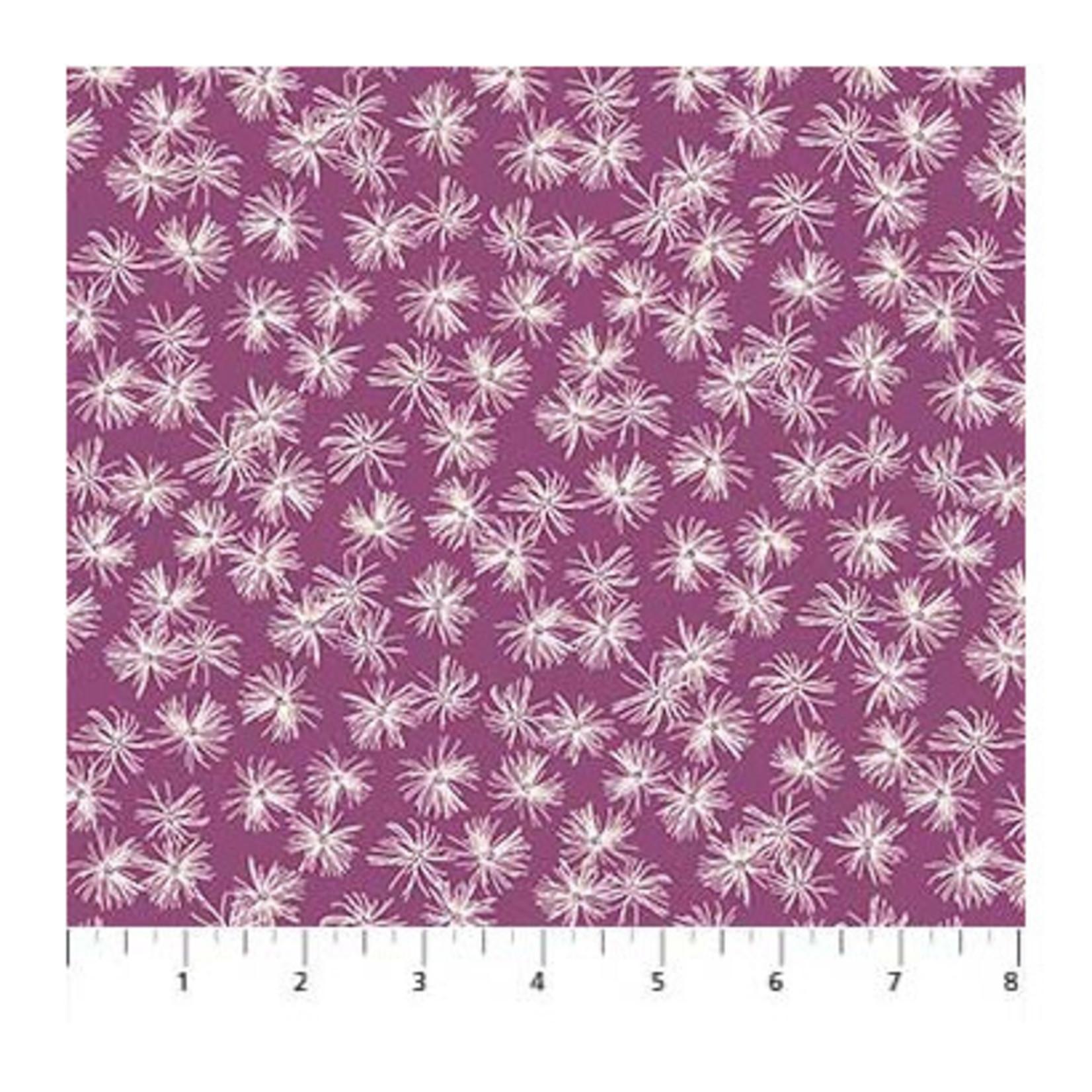 Figo Fabrics Mountain Meadow - Dandelions - Purple