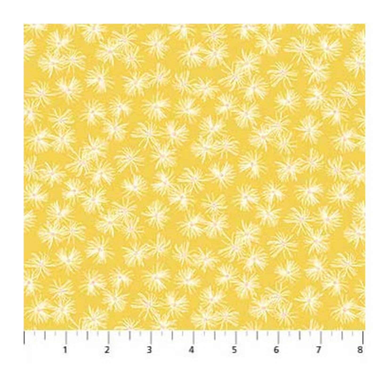 Figo Fabrics Mountain Meadow - Dandelions - Yellow