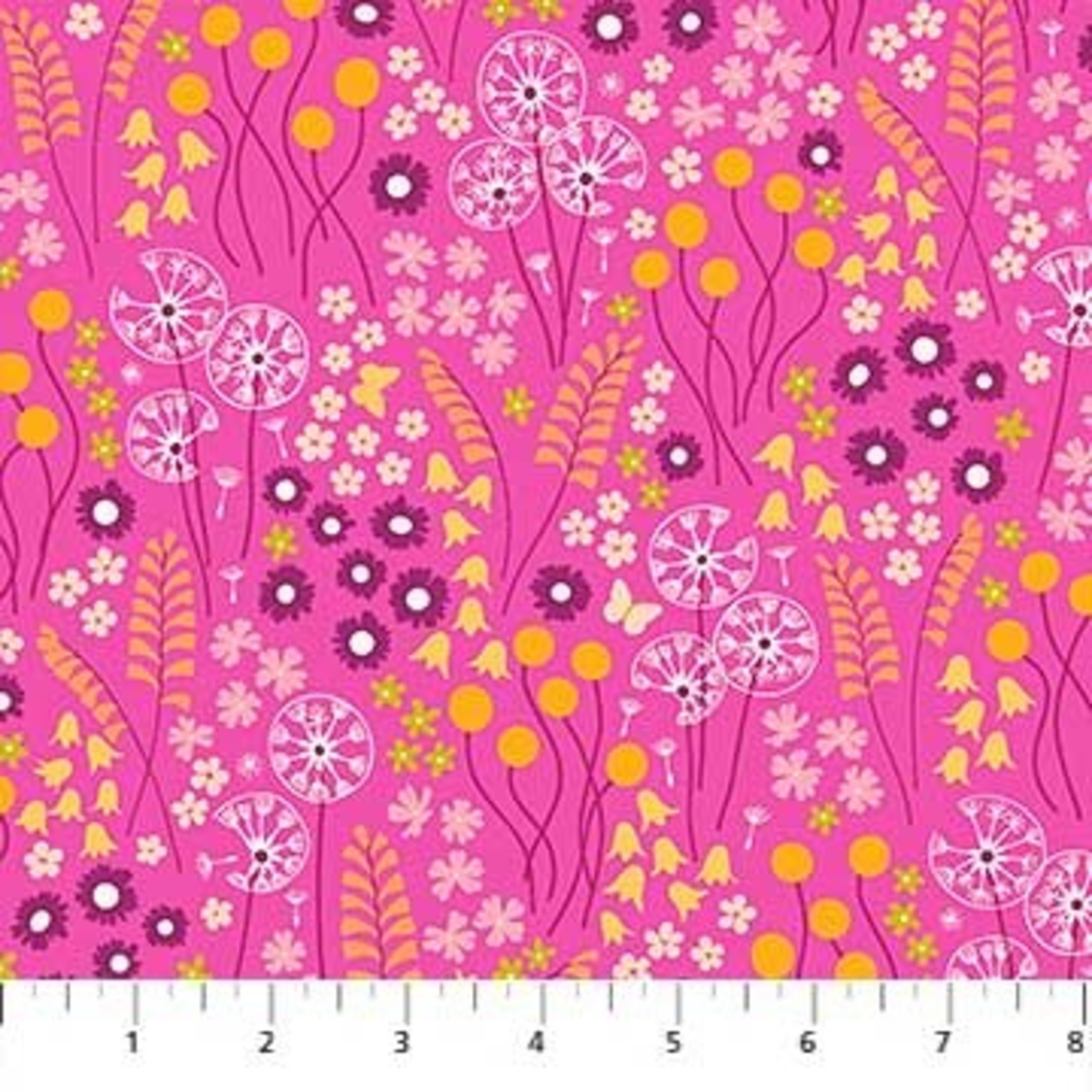 Figo Fabrics Mountain Meadow - Flower Fields - Pink