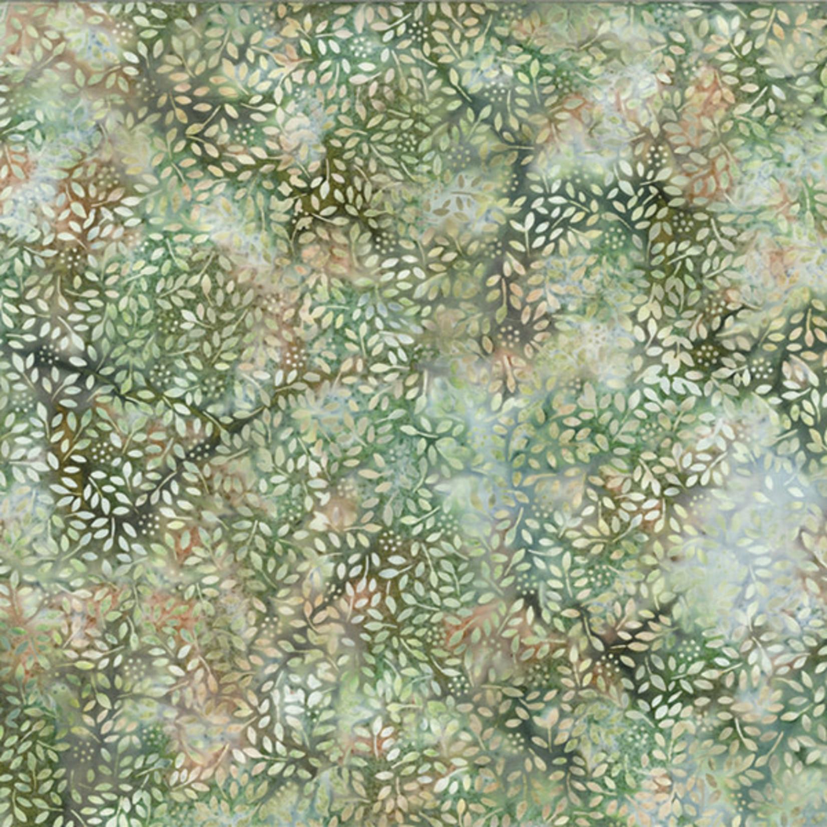 Hoffman Fabrics Bali Batik Leaves and Dots 2319 - Spring